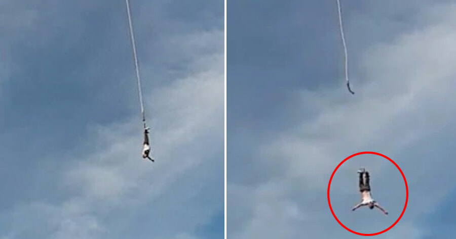 Man's Bungee Rope Snaps Into 2 After Leaping Off 100M Crane, Breaks Spine & Injures Multiple Organs - World Of Buzz