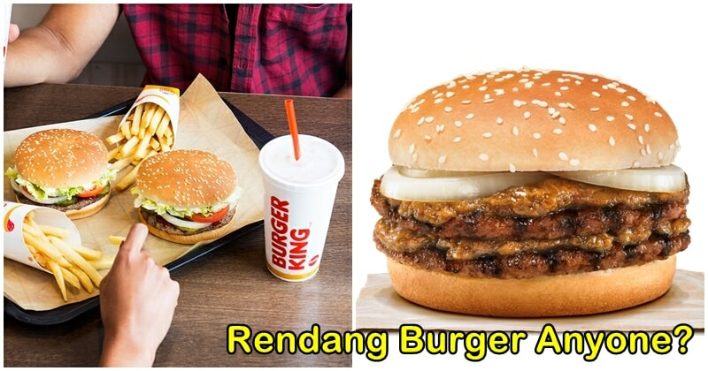 Burger King Singapore Introduces Rendang And Laksa Inspired Burgers To Their Menu! - WORLD OF BUZZ