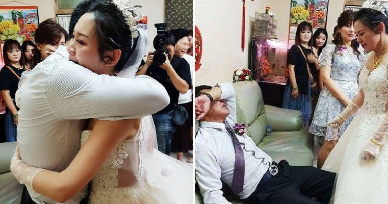 Father Breaks Down in Tears On Beloved Daughter's Wedding Day As He Was Reluctant to Let Her Go - WORLD OF BUZZ 3