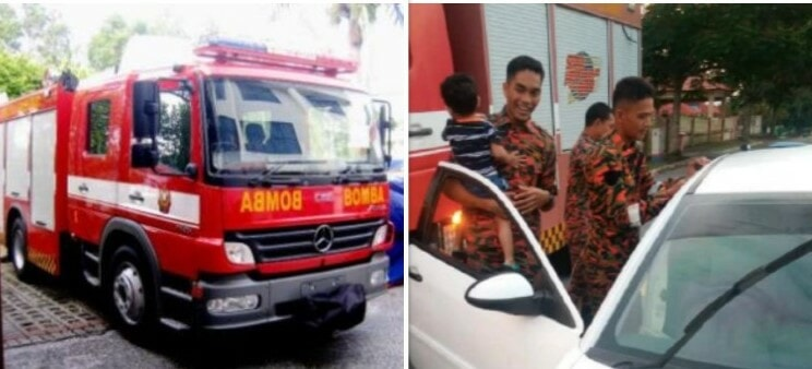 Firemen Save Two Children From Locked Car in Seremban - WORLD OF BUZZ