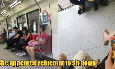 Foreign Worker Forced to Stand After Giving Up 2 Train Seats As Aunty Didn't Want to Sit Beside Him - WORLD OF BUZZ