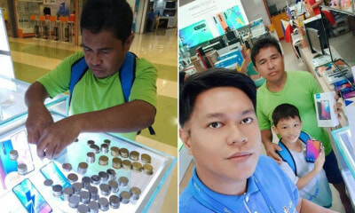 Hardworking Father Saved A Lot of Coins Just So He Can Buy His Son A Smartphone - WORLD OF BUZZ