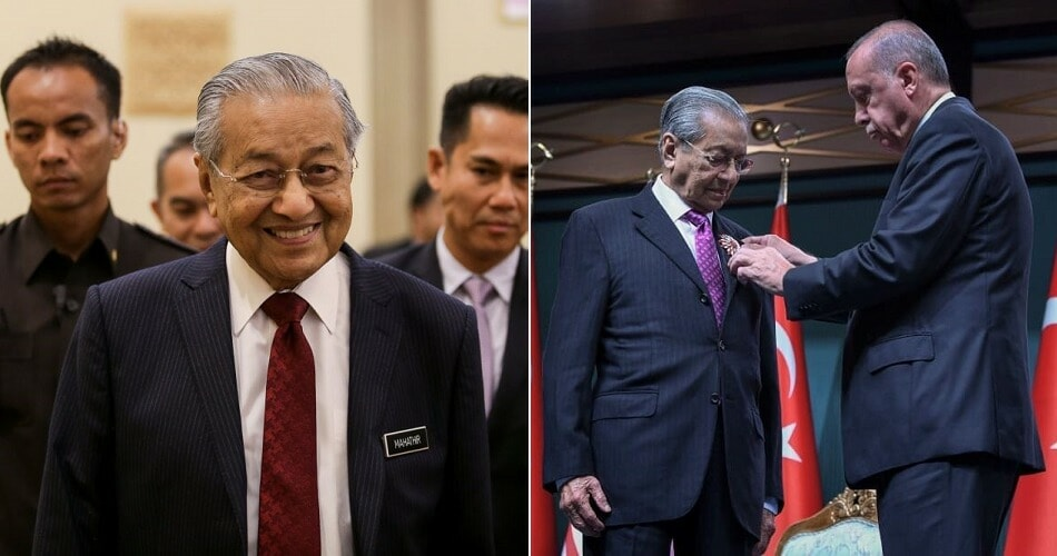 Tun M Becomes First-Ever Asean Leader To Receive This Prestigious Award From Turkey - WORLD OF BUZZ