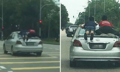 Johor Man Who Drove With Children Riding Dangerously on Car Gets Arrested & Has Vehicle Seized - WORLD OF BUZZ 1