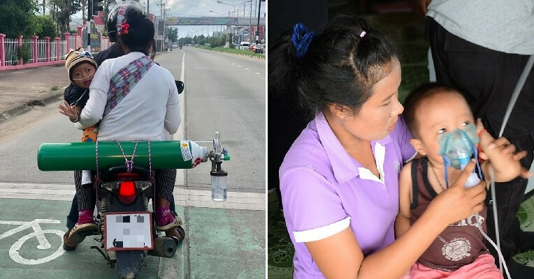 Loving Parents Tirelessly Travel 120Km To Get An Oxygen Tank Every 2 Days So Their Son Can Live - World Of Buzz 3