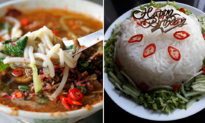 "Malaysian Woman Surprises Husband with Laksa ""Cake"" For His Birthday & It Looks Awesome! - WORLD OF BUZZ 2"