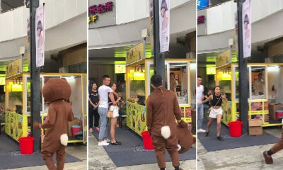 Man Travels 2,400km & Wears Bear Costume to Surprise GF, Sees Her in Another Guy's Arms Instead - WORLD OF BUZZ 5