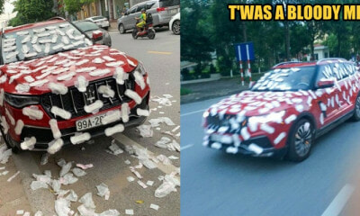 Maserati Got Vandalised with Sanitary Pads Because The Owner Parked Illegally - WORLD OF BUZZ 2