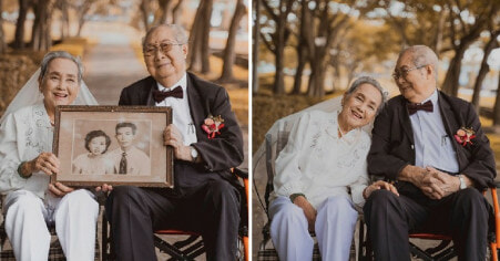 M'sian Couple in Their 90s Has First Wedding Photoshoot After 66 Years of Marriage & We're Crying - WORLD OF BUZZ 6