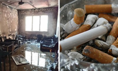 M'sian Man Falls Asleep While Holding a Still-Lit Cigarette, Burns Down Whole House & Almost Died - WORLD OF BUZZ 6
