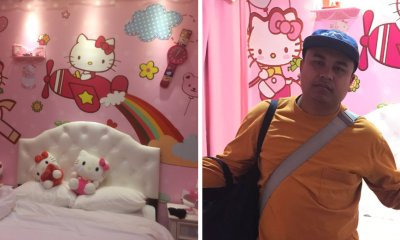 M'sian Man's Wife Surprises Him With Sneaky Hello Kitty Themed Room Booking in Melaka - WORLD OF BUZZ