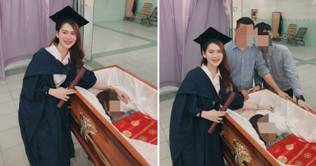 M'sian Woman Takes Tearful Family Portrait In Graduation Robe With Deceased Mother - WORLD OF BUZZ 1