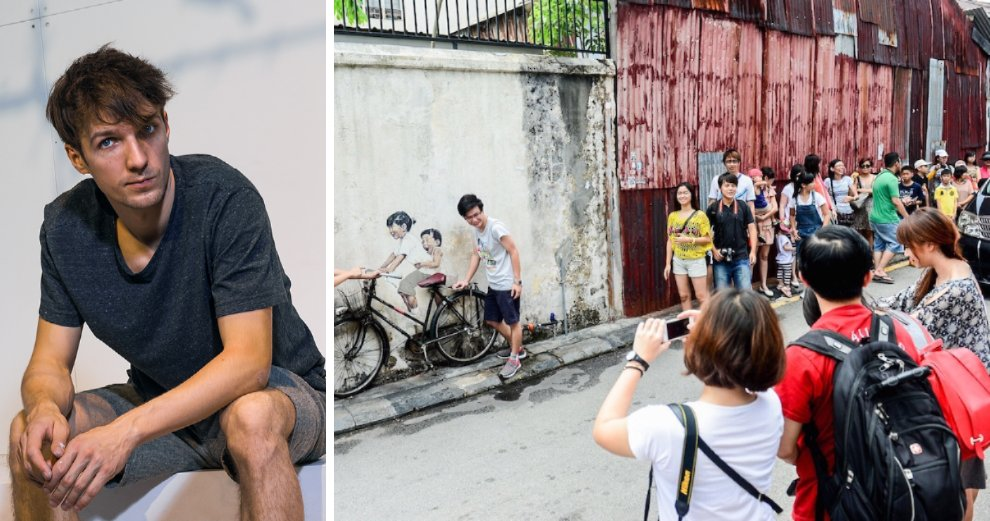 """Penang's Wall Street Artist Says His Murals Have Turned Heritage Area into a """"Circus"""" - WORLD OF BUZZ"""