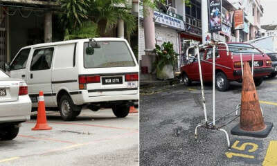 "People Who Illegally ""Chup"" Parking Lots With Cones Can Be Fined Up To RM2,000 - WORLD OF BUZZ"