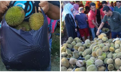 This Kelantan Stall Sells Durians For Only RM10 A Bag and Everything Clears Out In 1 Hour - WORLD OF BUZZ