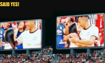 Singapore Lady Proposes to Boyfriend During Football Match, He Said Yes! - WORLD OF BUZZ 2