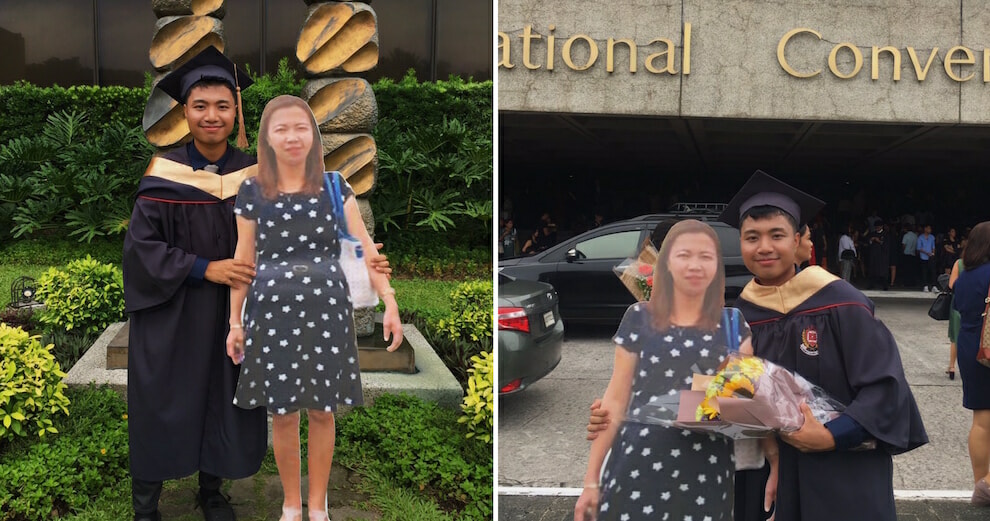 Student Goes Viral After Bringing Life-Sized Cutout Of His Late Mother To Graduation Ceremony - World Of Buzz 3