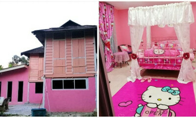 This M'sian Loves Hello Kitty So Much She Turned Her 100yo Heritage House Into a Pink Paradise! - WORLD OF BUZZ
