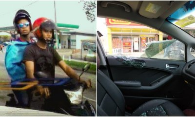 Watch: 2 Motorcyclists Smash Woman's Car Window & Grabs Her Handbag at Gombak Traffic Light - WORLD OF BUZZ 4