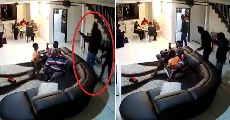 Watch: Shah Alam Family Gets Robbed At Home When 5 Masked Men Armed With Parangs Break In - WORLD OF BUZZ 4