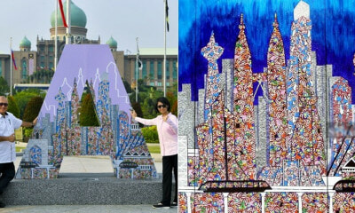 17yo Autistic Girl's Painting Gets Featured On Putrajaya Signage For National Day - WORLD OF BUZZ 1