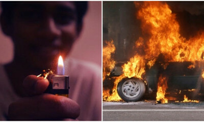 19 yo Sarawak Teen Sets Car and Family Members on Fire After Small Argument - WORLD OF BUZZ