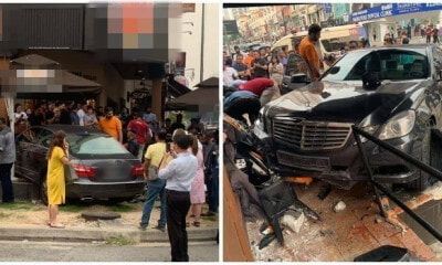 60yo Drunk Man Crashes His Mercedes Benz Car into Famous Fast Food Outlet in Kota Damansara - WORLD OF BUZZ 1
