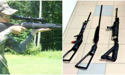 60yo Kuching Uncle DIY 3 Air Rifles Following Google Instructions, Gets Arrested - WORLD OF BUZZ