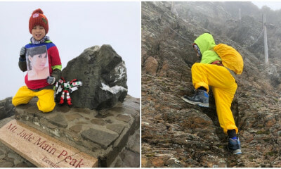 8yo Boy Conquers 3952m Mountain With Deceased Mother's Portrait to Fulfill A Promise They Made - WORLD OF BUZZ