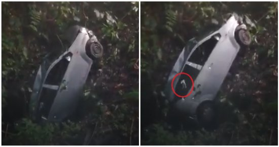 Ghost Hand In Appears In Video Showing Car Being Pulled Out Of Ravine In Gombak, Netizens Speculate - WORLD OF BUZZ