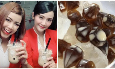 AirAsia Thailand Now Offers Boba Milk Tea With Diamond-Shaped Bubbles in Their In-Flight Menu! - WORLD OF BUZZ