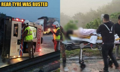 Ambulance Skidded and Toppled on North-South Expressway, Both Driver and Patient Passed Away - WORLD OF BUZZ 1