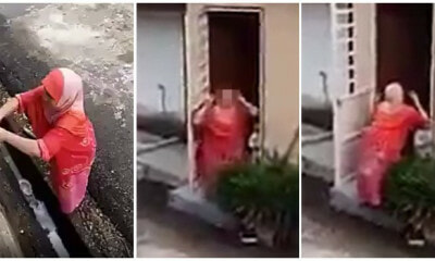 "Angry Mak Cik Yells At Neighbour For ""Fixing"" Her Pipe, Neighbour Makes Funny Faces & Shakes Butt - WORLD OF BUZZ"