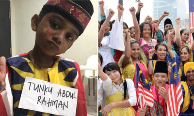 Awww! Little Indian Boy Wears Songkok And Dresses Up As Tunku Abdul Rahman For National Day - WORLD OF BUZZ 3