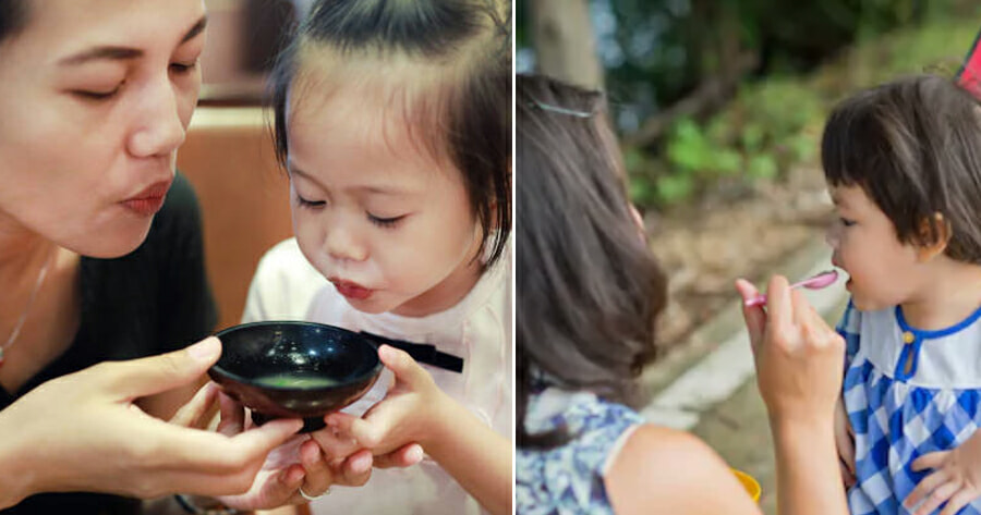 8yo Gets Stomach Disease After Her Mum Transmits Her Own Bacteria by Blowing on Girl's Food - WORLD OF BUZZ