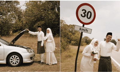 Broken Down Car Lead To An Amazing Roadside Wedding Photoshoot - WORLD OF BUZZ 5