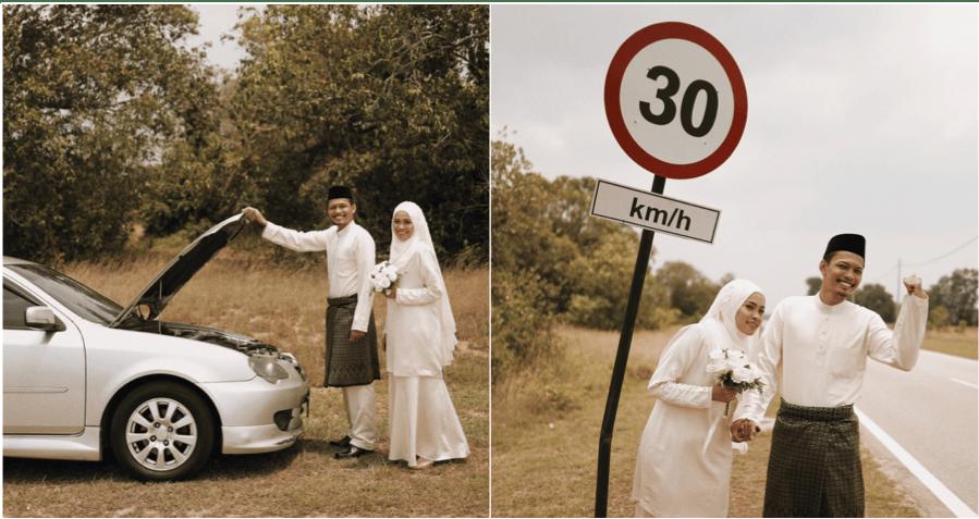 Broken Down Car Lead To An Amazing Roadside Wedding Photoshoot - WORLD OF BUZZ 5