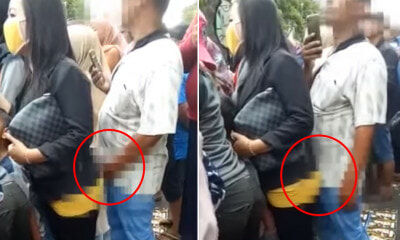 [Video] Hamsap M'sian Man Pleasures Himself Behind Woman & Presses Crotch Against Her - WORLD OF BUZZ