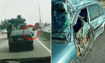 Driver Shocked After Large Army Truck Bangs Into - WORLD OF BUZZ 3