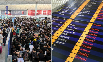 Nearly 200 Incoming & Outgoing Flights Cancelled At Hong Kong International Airport - WORLD OF BUZZ