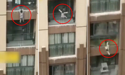 Video Shows 3yo Boy Hanging on For Dear Life From Sixth-Floor Balcony & Falls - WORLD OF BUZZ
