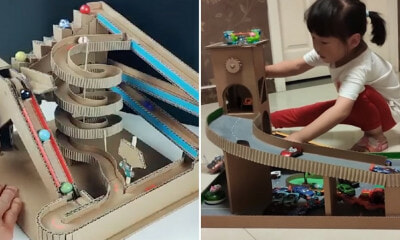 Father Makes Cool 3D Games Out Of Cardboard So His Daughter Won't Rely on Phones & Gadgets - WORLD OF BUZZ 3