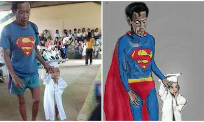 Father Too Poor To Afford A Suit, Goes To Daughter's Graduation As Superman - WORLD OF BUZZ 5