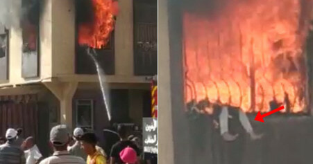 7yo Trapped at Window After Building Catches Fire From Phone Charger Explosion - WORLD OF BUZZ