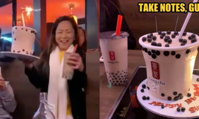 Girl Surprised with 3D Boba Themed Cake on Her 21st Birthday - WORLD OF BUZZ 2
