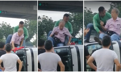 Heroic Grab Food Rider Breaks Window & Rescues 70yo Uncle Trapped In A Toppled Van - WORLD OF BUZZ 6