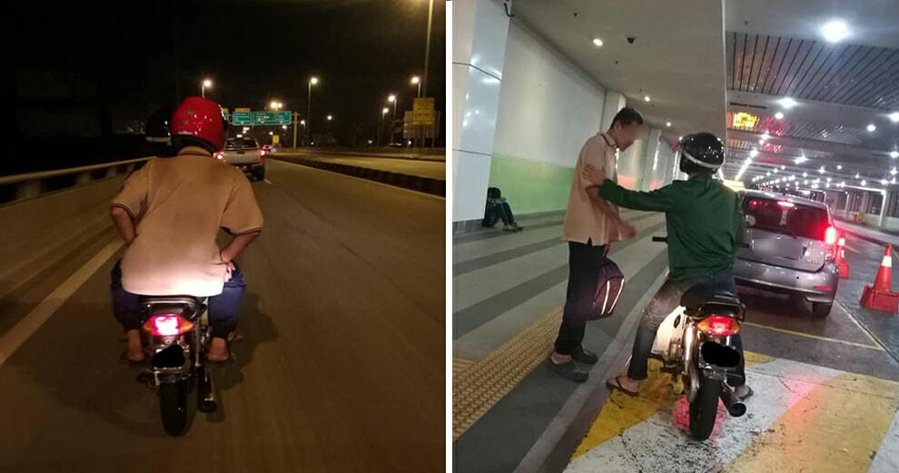 Hitchhiking elderly pakcik - WORLD OF BUZZ