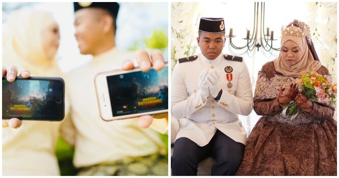 Kedah Policewoman Meets Soldier Husband Through PUBG, Now They Are Happily Married - WORLD OF BUZZ