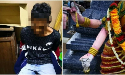 Malaysian Captures Individual Who Smashed 15 Deities And Caused Loss Of RM80k To Ipoh Temple - WORLD OF BUZZ 7