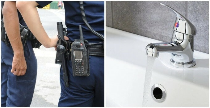Man Stole Basin Tap Worth of RM516 From Police Station Thinking That It'd Look Good At His Home - WORLD OF BUZZ 1